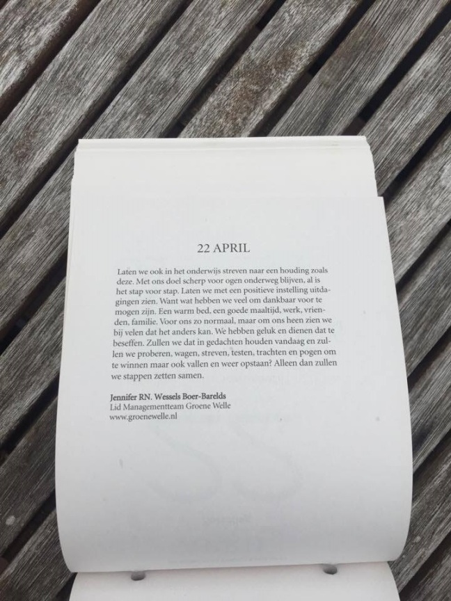 22 april kalendertekst